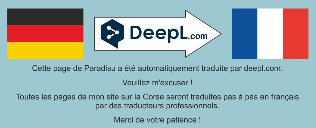Traduction par Deepl Paradisu Corse