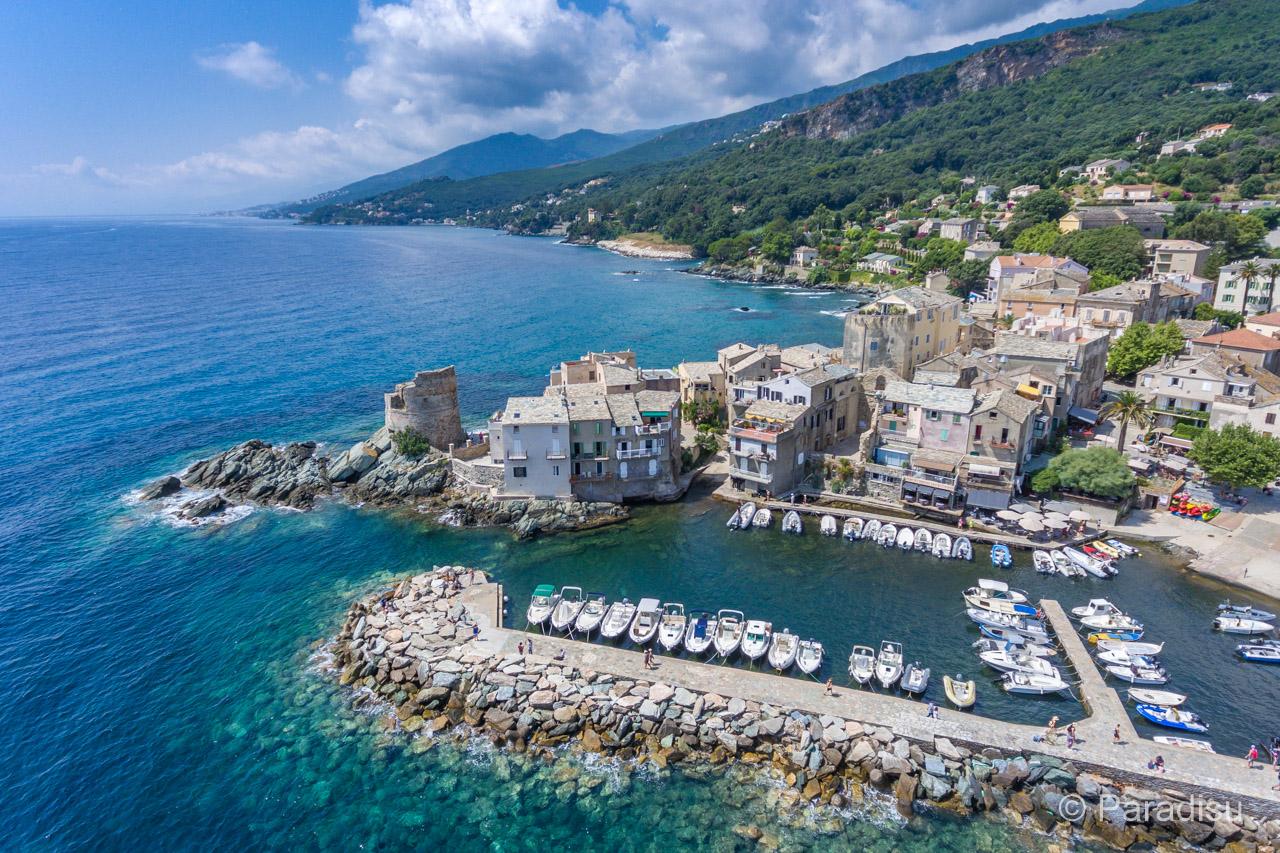 Cap Corse côte orientale Erbalunga