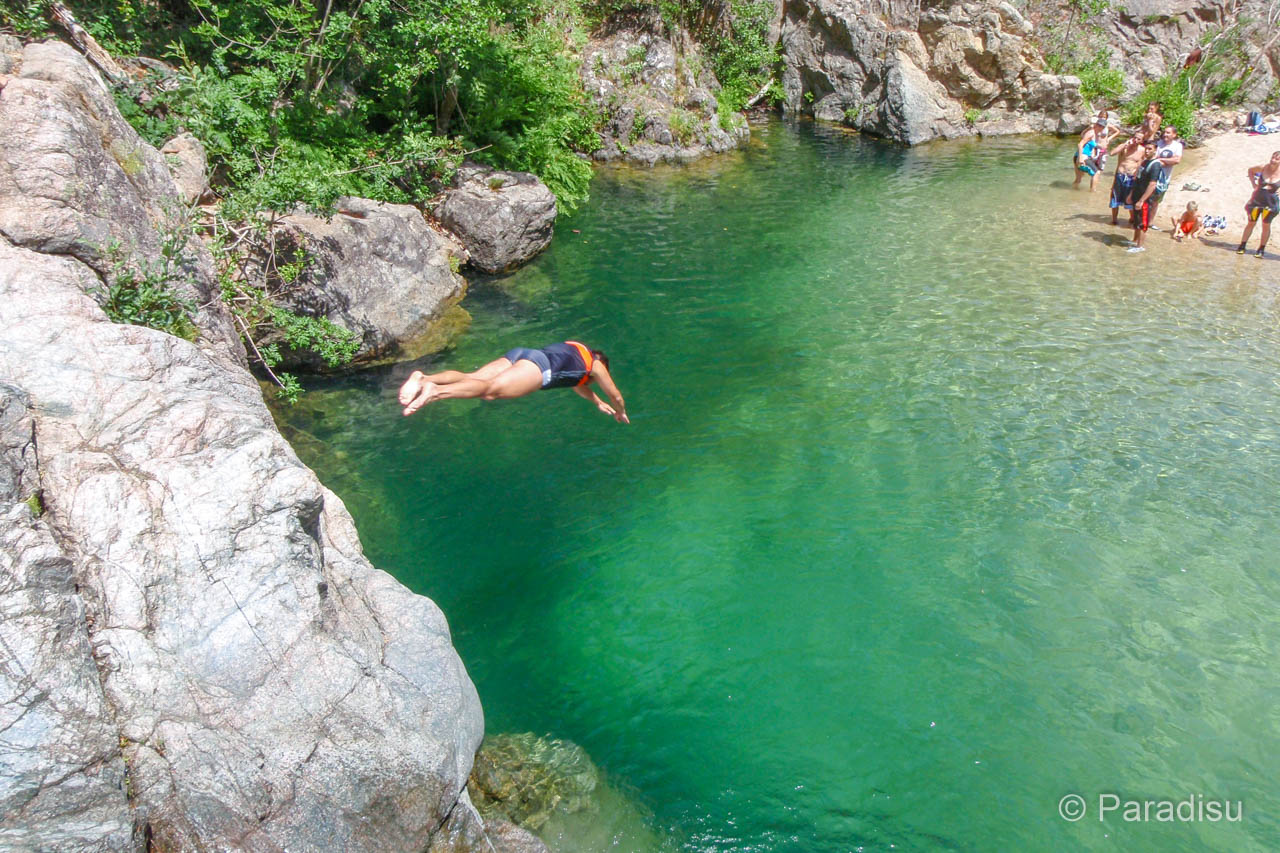 Kopfsprung Ins Tiefe Becken