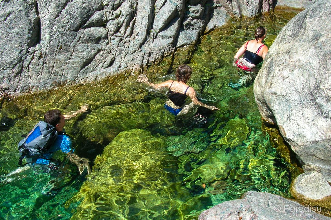 Flusswanderung Randonnée Aquatique En CorseFiumicelli