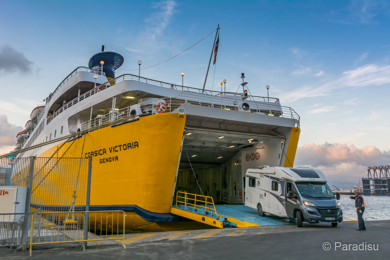 Korsika Fähre Wohnmobil Corsica Ferries