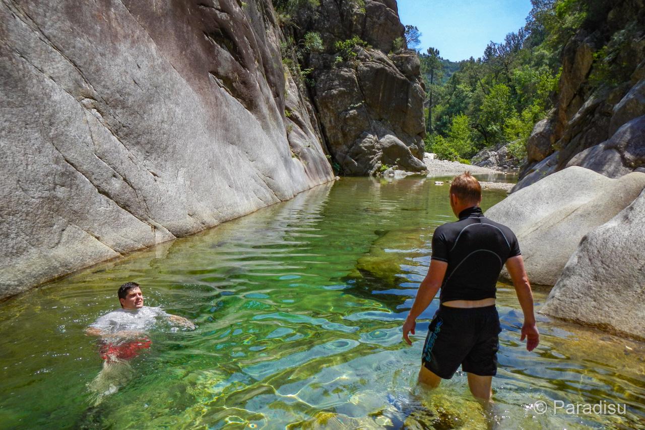 Korsika Flusswandern Randonnée Aquatique En Corse
