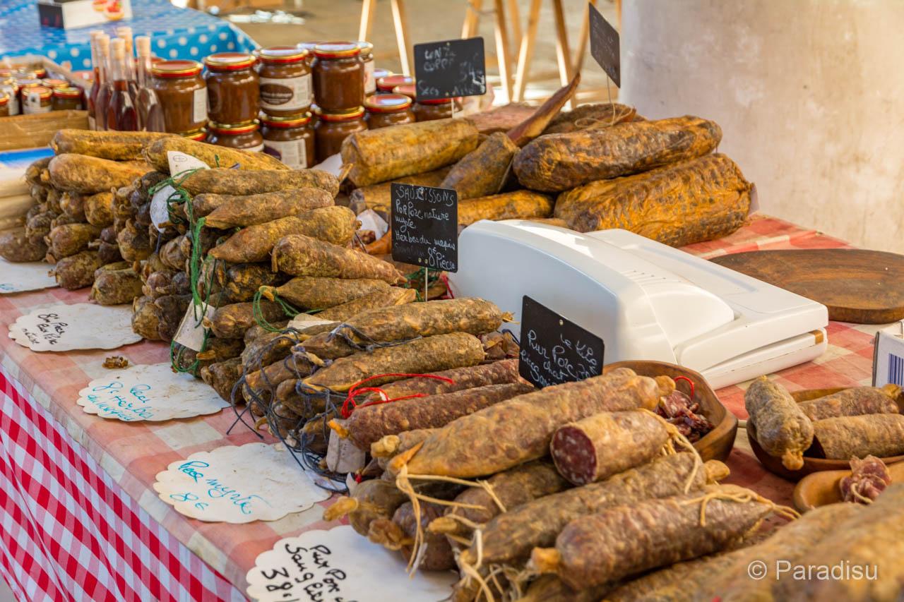 Korsika Markt Fleisch