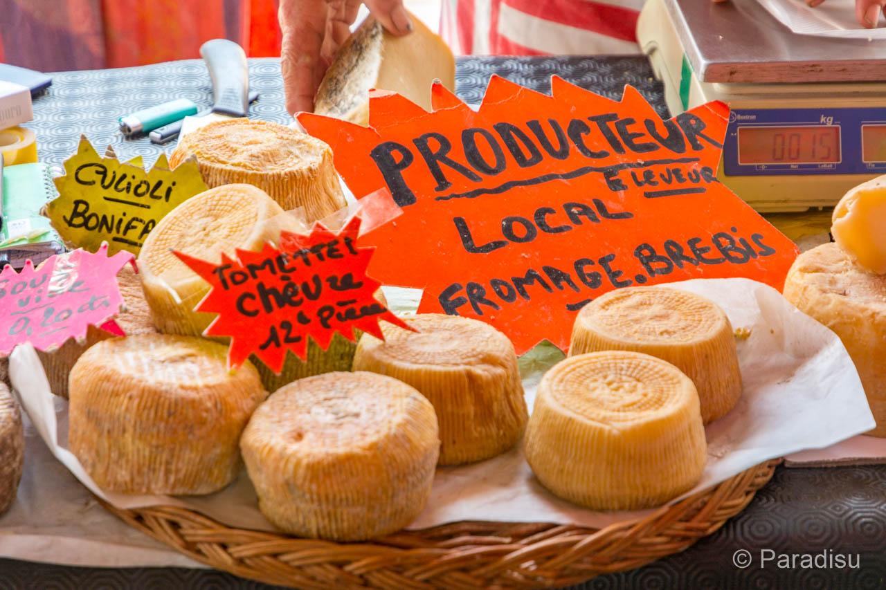 Korsika Markt Käse