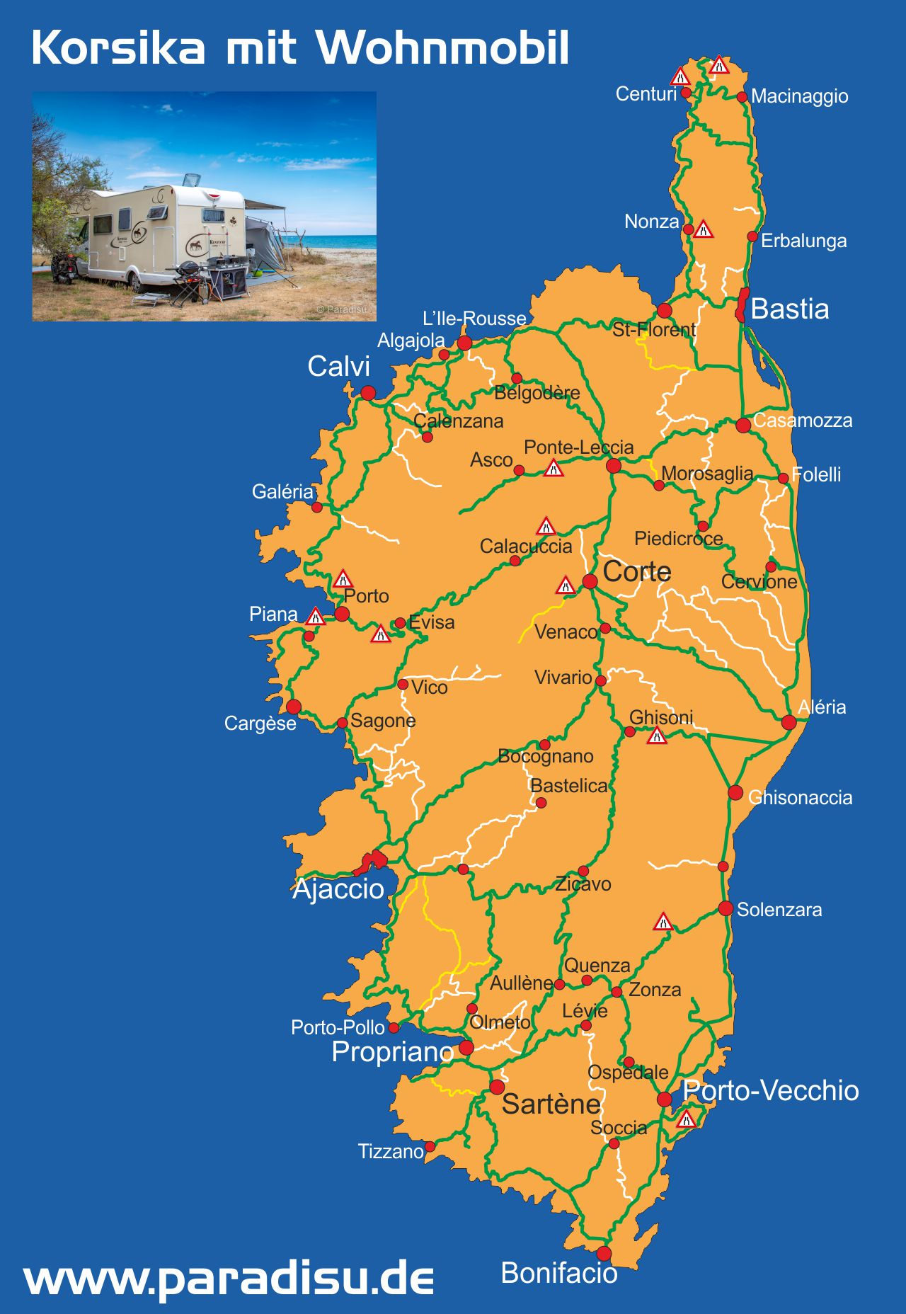 Korsika Wohnmobil Karte