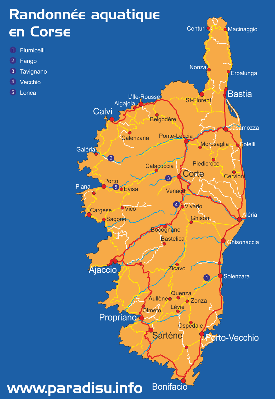 Randonnée aquatique en Corse