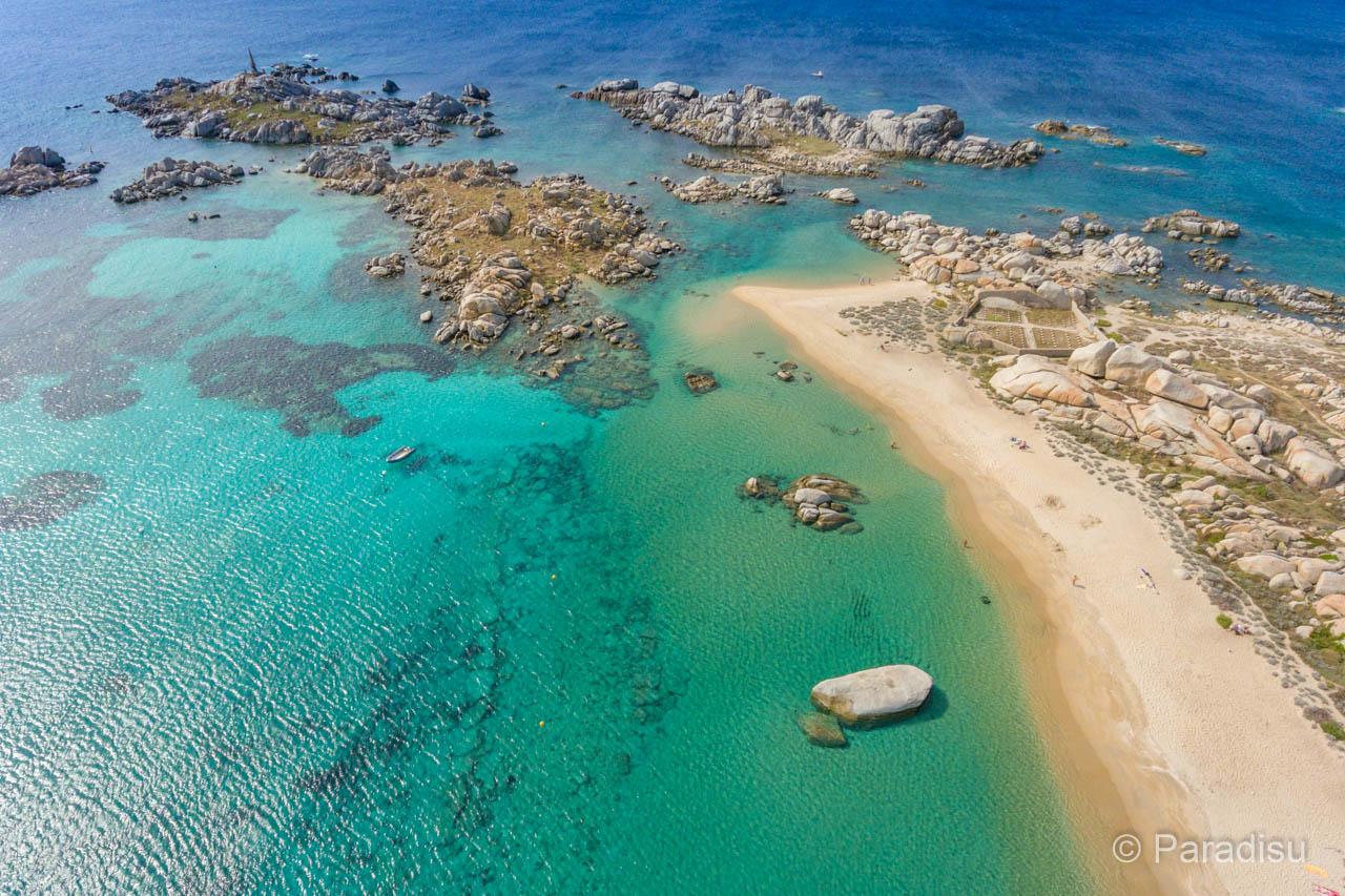 Strand Von Cala Giunco Lavezzi Strände Im Süden Von Korsika