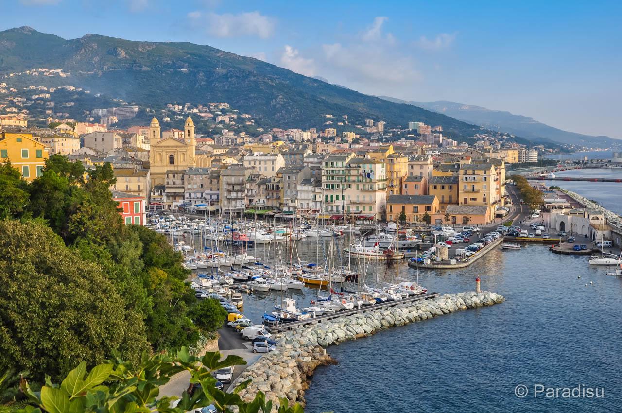 Bastia von der Zitadelle aus gesehen
