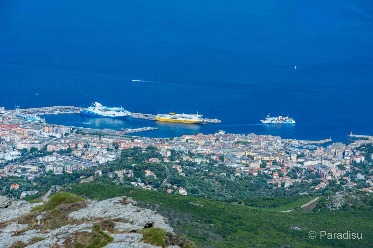 Bastia von der Serra di Pigno