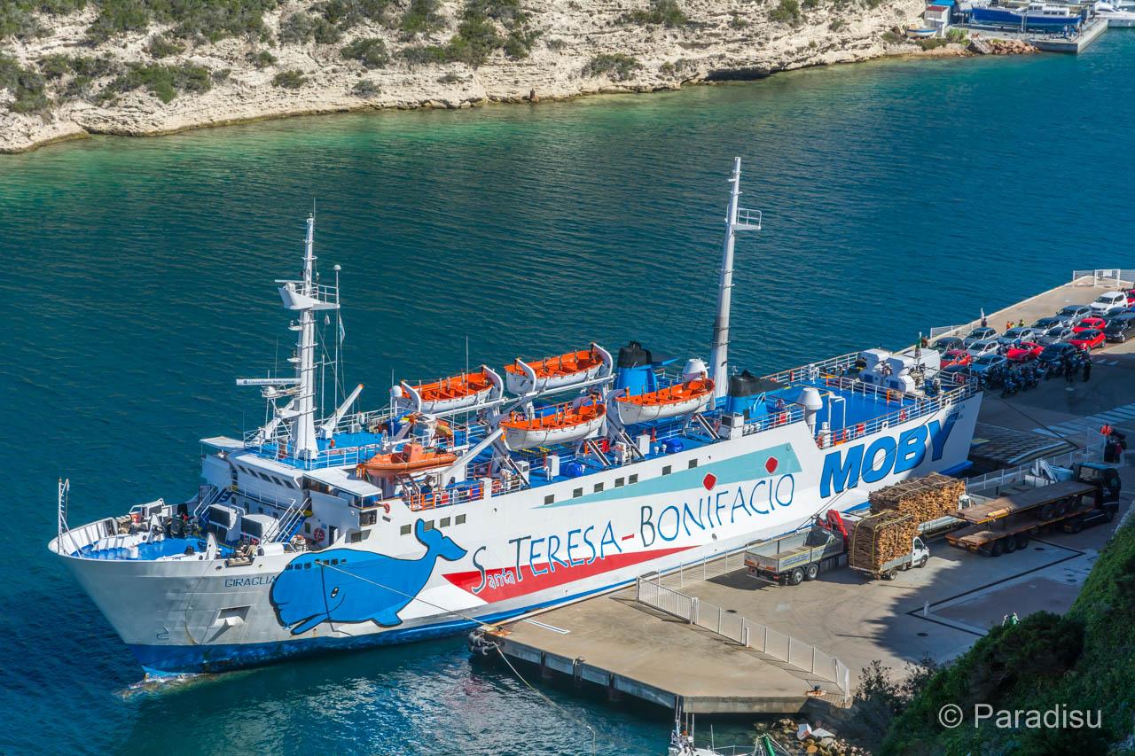 Bonifacio Fähre von Korsika nach Sardinien