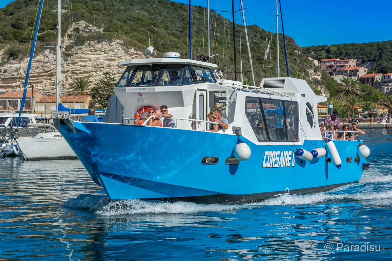 Excursion en bateau à Bonifacio