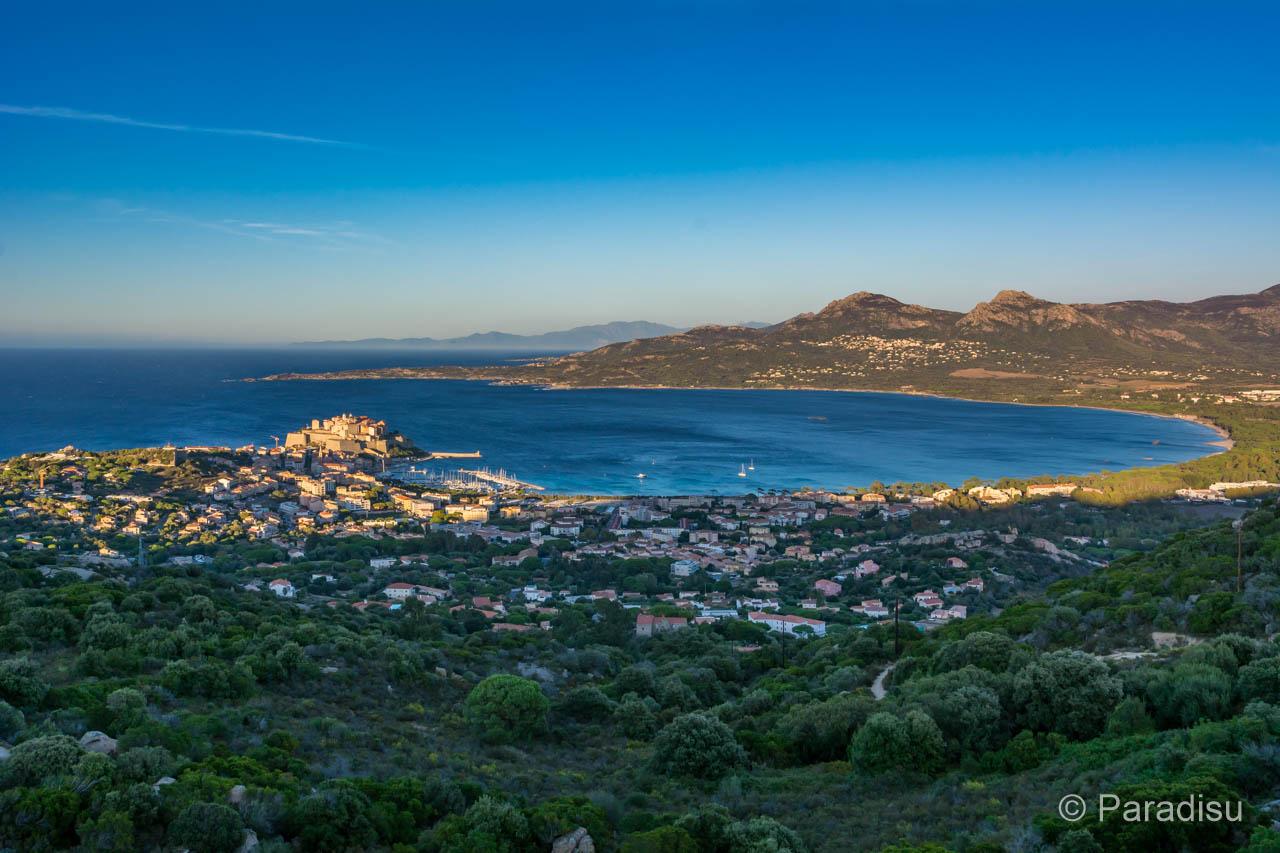 Blick Auf Die Bucht Von Calvi Von Der Kapelle Notre Dame De La Serra