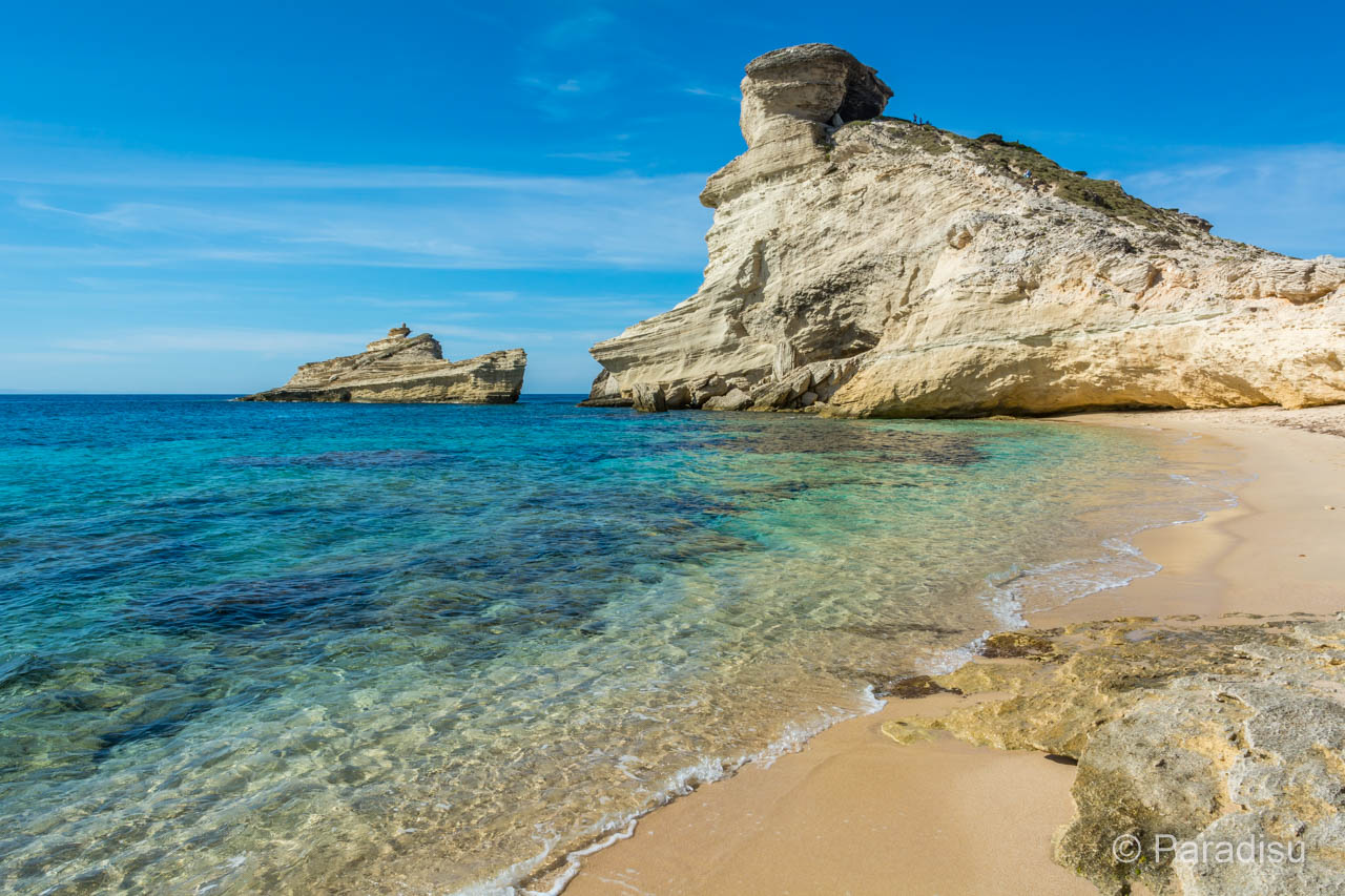 Capo Pertusato avec la plage Saint-Antoine