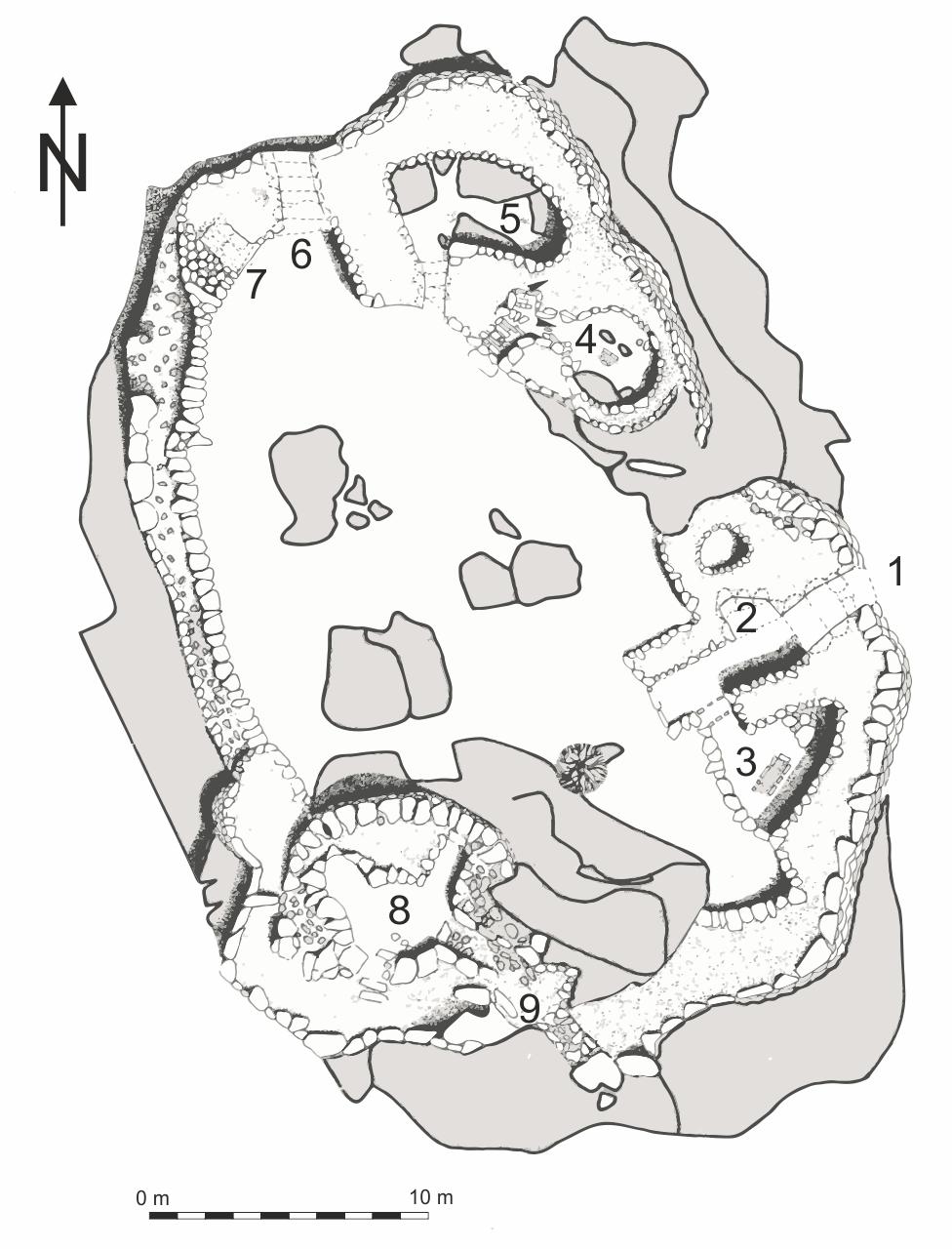 Castello d'Araggio Plan