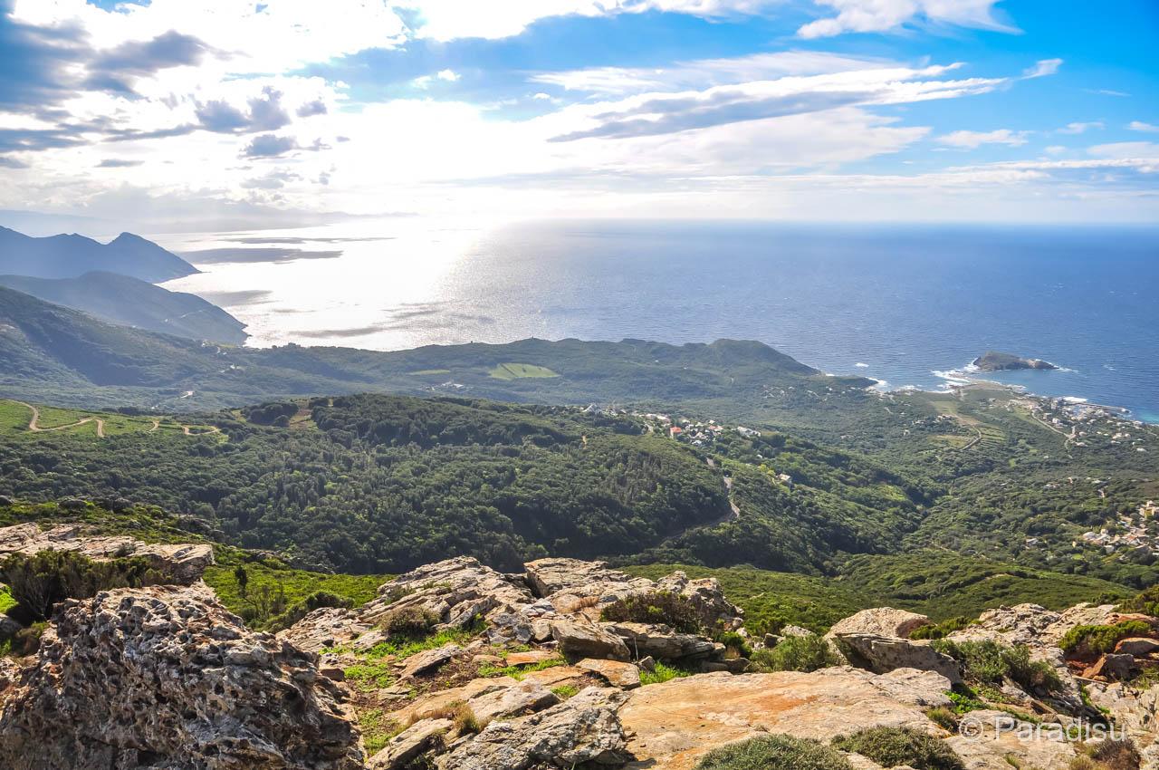 Windkraftwerke Auf Dem Cap Corse