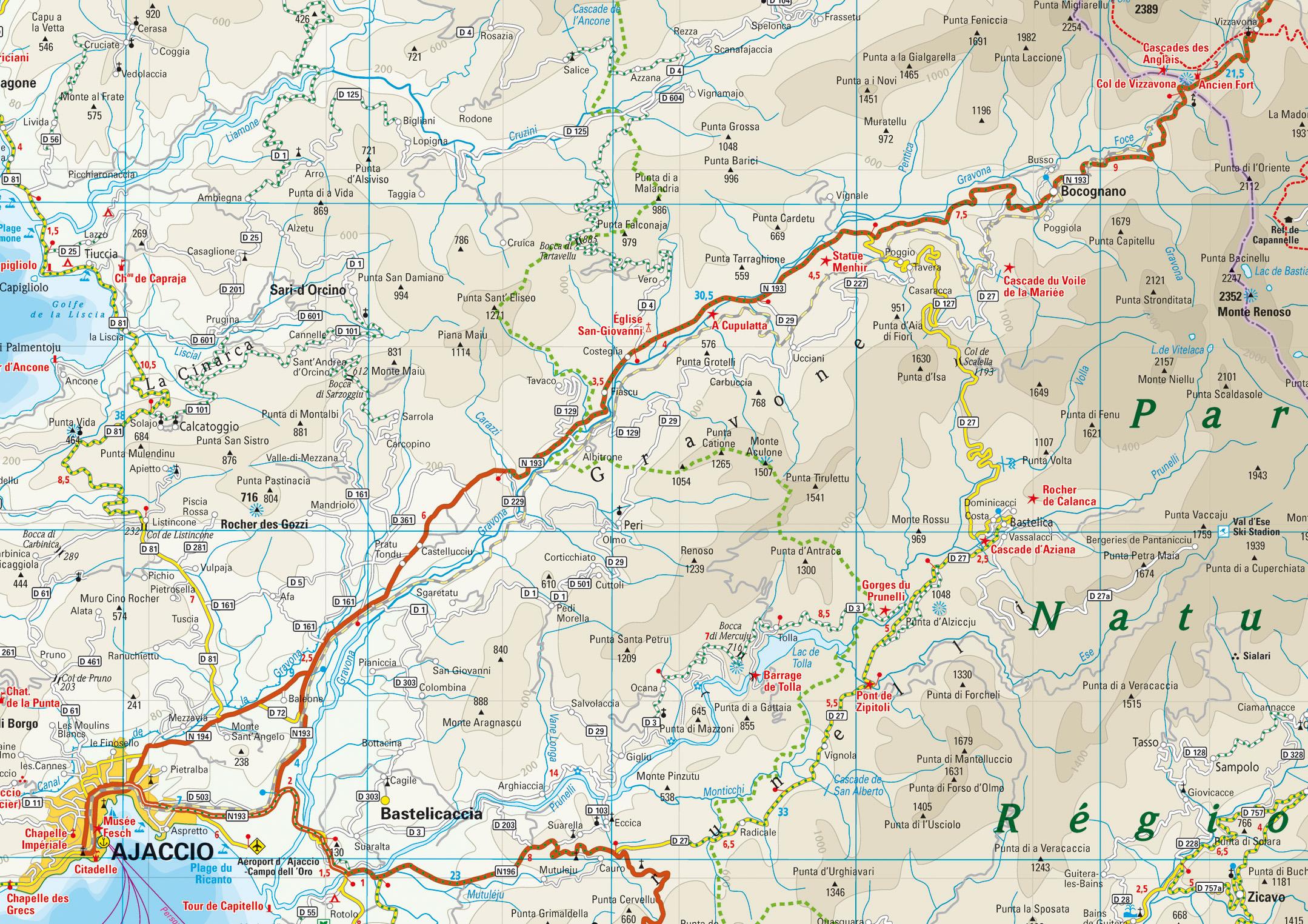 Karte Gravona Tal