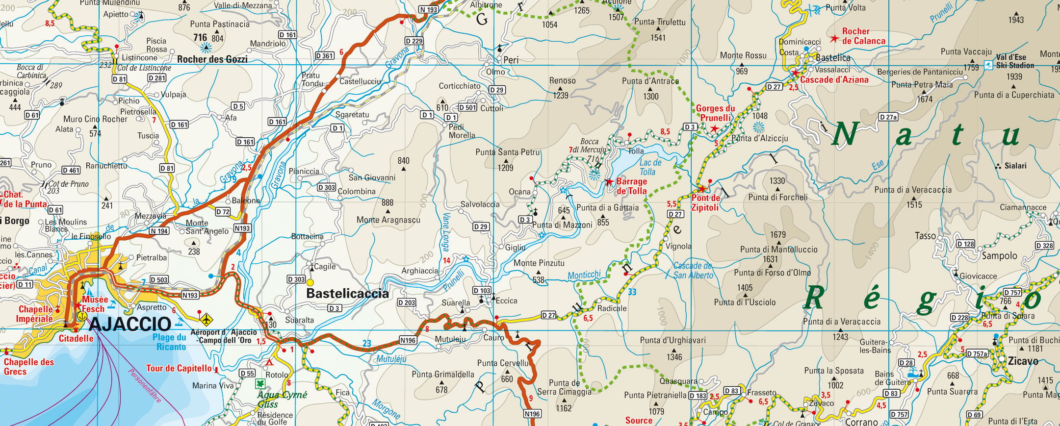 Karte Prunellital