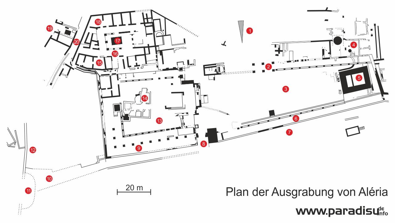 Plan Ausgrabung Aléria