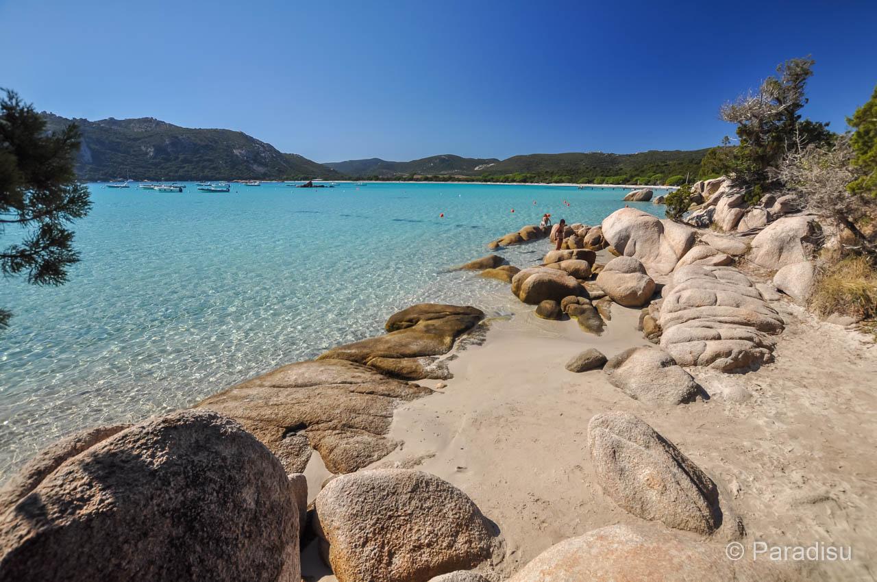 Strand Von Santa Giulia Korsika Corse