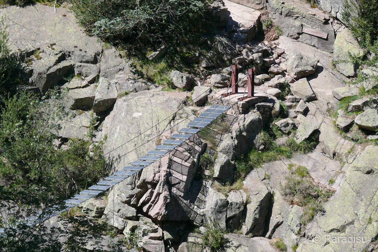 Spasimata-Hängebrücke